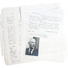Witold Gombrowicz. Dix lettres en manuscrit original et un portrait photographique de l'auteur.