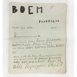 Bezette Stad catalogus handschrift Demian