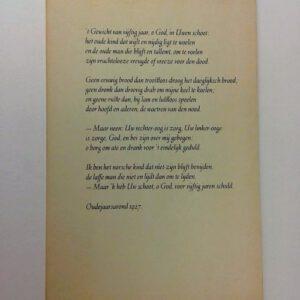 Karel van de Woestijne. 't Gewicht van vijftig jaar, o God, in Uwen schoot.