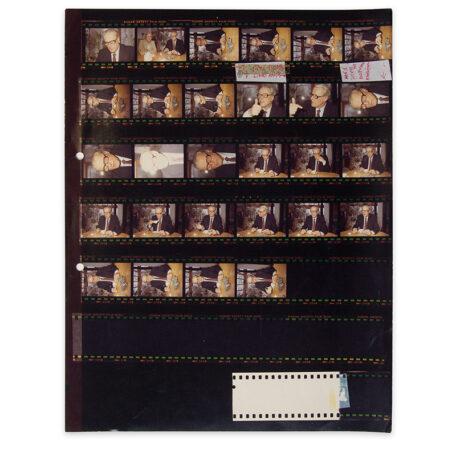 Gerald Dauphin. Contactafdruk met portretten van Willem Frederik Hermans.