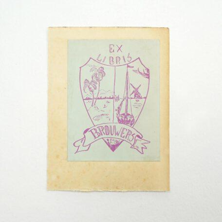 Ex libris Brouwers.