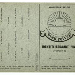 Patrick Conrad. Pink Power. Identiteitskaart Pink.