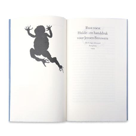 (Jeroen Brouwers) Benno Barnard e.a. Rust roest. Hulde- en handdruk voor Jeroen Brouwers.
